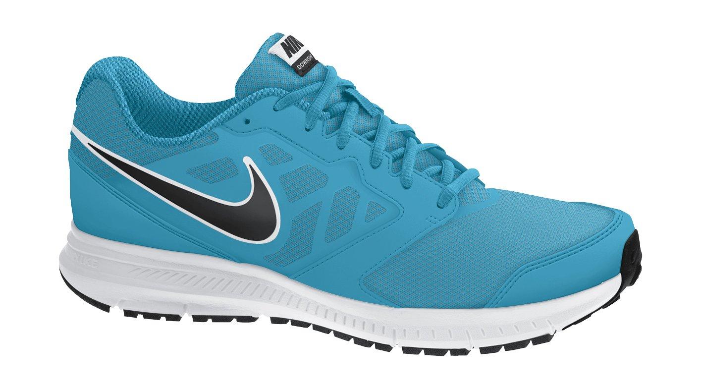 Nike Herren Downshifter 6 Laufschuhe  Grau  42 EU Blau / Schwarz / weiss (Blaue Lagune / Schwarzweiss)
