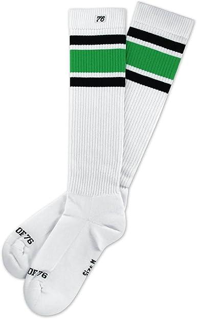 Chaussettes hautes Blanc Spirit of 76 Homme Blanc noir//vert