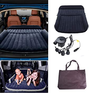Colchón Inflable para Coche Cama Air de Auto SUV Viaje Camping Senderismo Cama Hinchable de Coche SUV Plegable Extendida para el Reposo de Sueño Sofá Hinchable para Movimiento íntimo Convertible