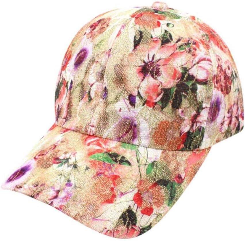 YPORE Moda Mujer Verano Floral Gorra De Béisbol Gorras Snapback ...