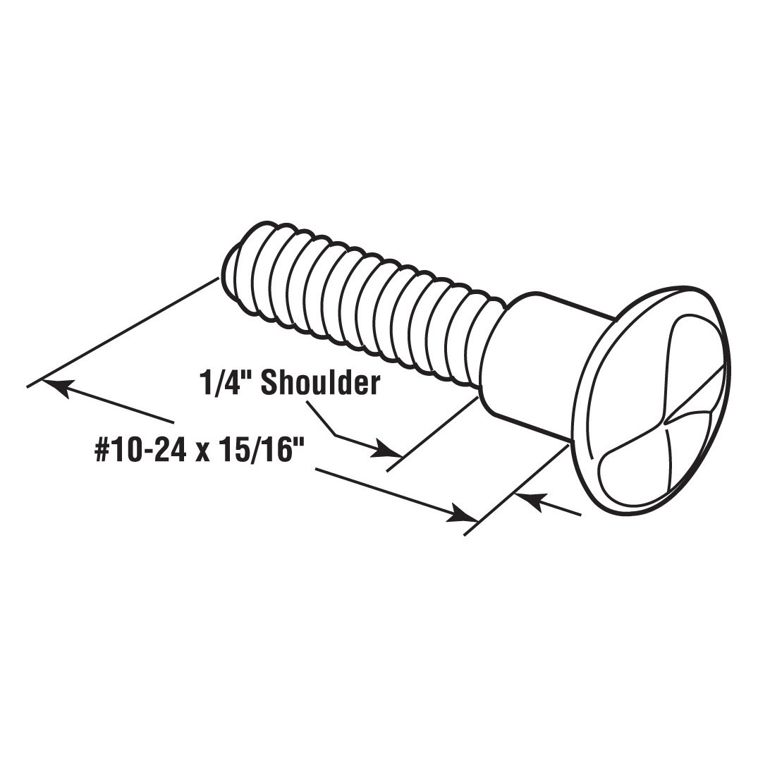 Pack of 100 Chrome, Sentry Supply 651-0463 One Way Shoulder Screw Number-10-24 x 15//16-Inch