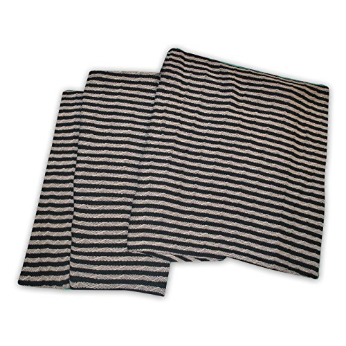 (Superior 100% Thermal, Soft and Breathable Cotton for All Seasons, Bed and and Oversized Throw Blanket with Woven Stripe Pattern, Full/Queen,)