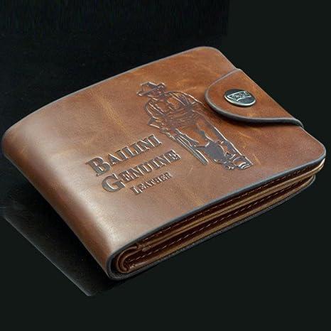 Billetera hecha a mano, premium, de piel auténtica: Amazon.es: Industria, empresas y ciencia