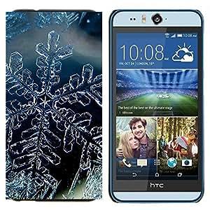 EJOOY---Cubierta de la caja de protección para la piel dura ** HTC Desire Eye M910x ** --Cristal de la nieve del invierno del copo de hielo