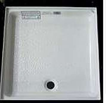 rv shower pan 24 x 24 4flange front center drain white