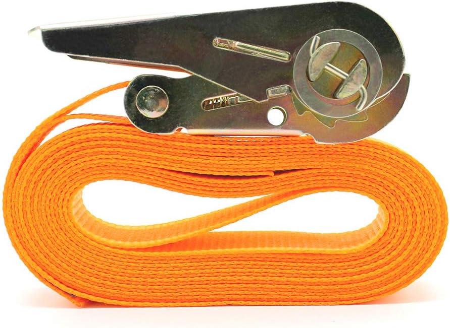 2 Piezas 13 FT Porable Heavy Duty Amarre Correa de Carga Equipaje Amarre Fuerte Correa de trinquete Correa con Hebilla de Metal Correas de Amarre