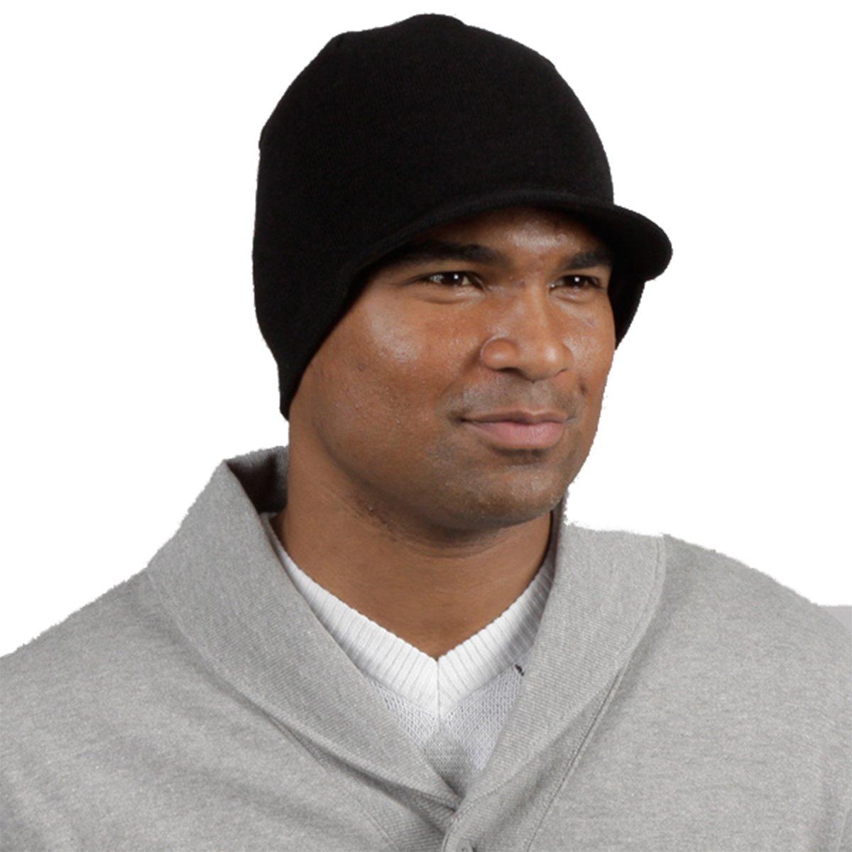Minus33 Merino Wool Spur Visor Beanie, Black, One Size Minus33 Merino Wool Clothing 603