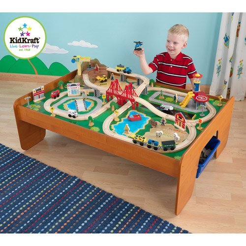kidkraft-ride-around-town-100-piece-train-table-and-set