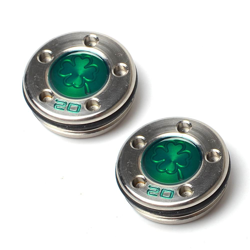 GOOACTION Golf Custom Putter Weights Green Four-Leaf Clover Pattern 2pcs 20g Available for Scotty Cameron Putter Club by GOOACTION