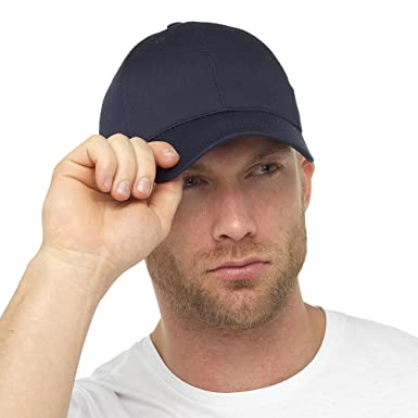 15fd2658112 Tom Franks Mens Basic Plain Dyed Baseball Cap With Adjustable Cinch Belt -  Plain Navy Colour