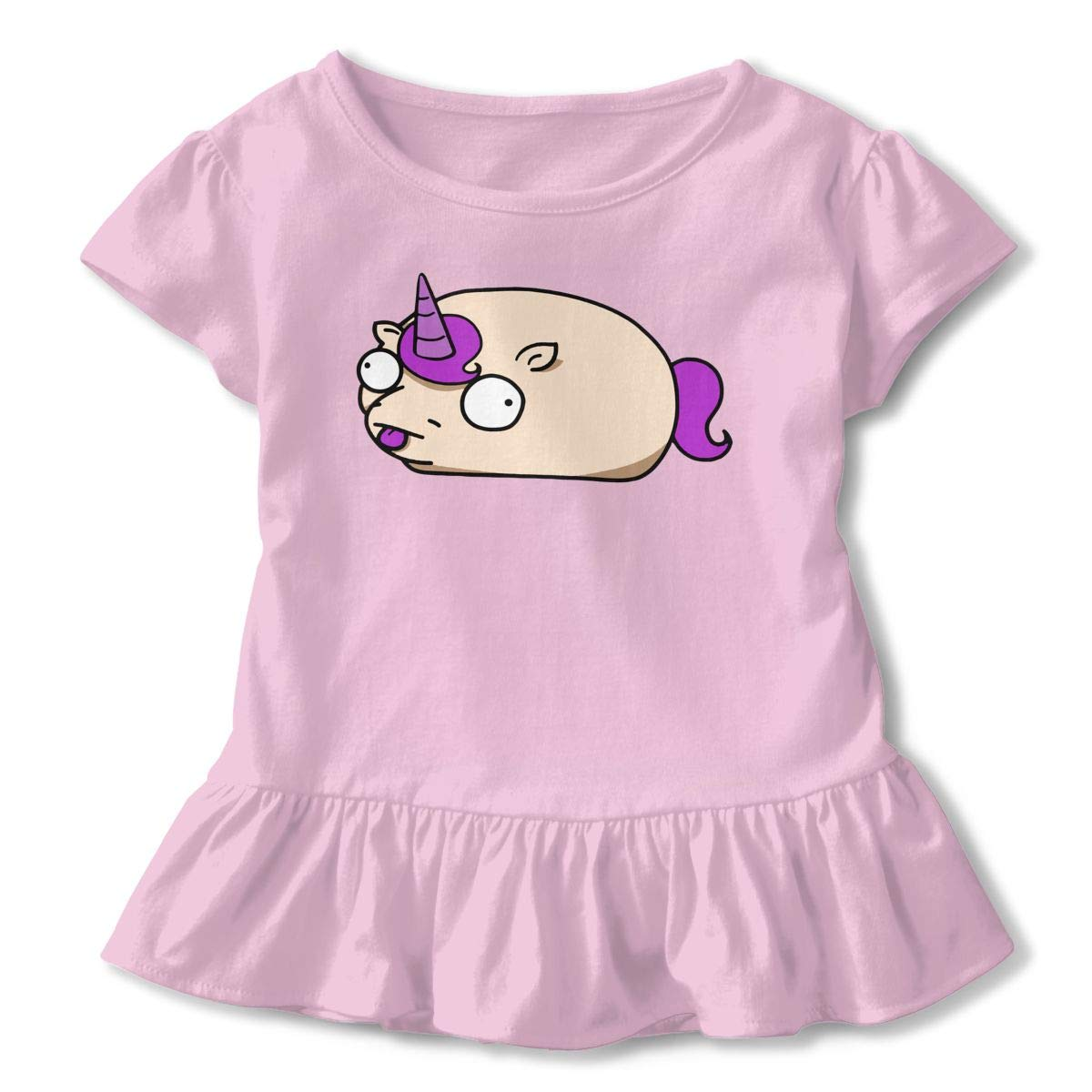 HYBDX9T Little Girls Weird Unitato Funny Short Sleeve Cotton T Shirts Basic Tops Tee Clothes