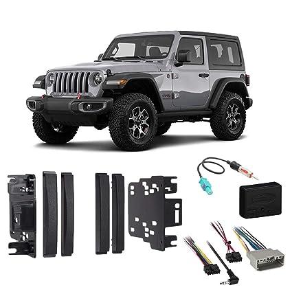 Amazon.com: Compatible with Jeep Wrangler & Unlimited 2017 ... on jeep wrangler radio fuse, jeep wrangler trailer wiring harness, jeep wrangler radio antenna, jeep wrangler door harness, jeep wrangler fuse box diagram, jeep wrangler wiring diagram, jeep wrangler radio bracket, jeep wrangler radio relay, jeep wrangler antenna harness, jeep wrangler radio cover, jeep wrangler window regulator, jeep wrangler transmission cooler lines, jeep wrangler mpg,