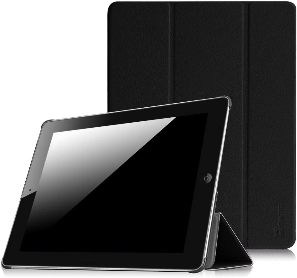 Fintie Slimshell Case for iPad 2 3 4 (Old Model) 9.7 inch Tablet - Lightweight Smart Stand Cover Protector Auto Wake/Sleep for iPad 4th Generation with Retina Display, iPad 3 & iPad 2, Black
