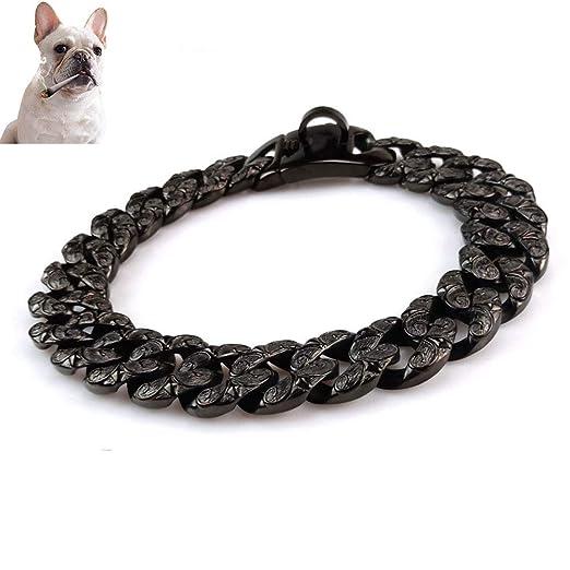 UTOPIAY Personalizado Collares Negro de Cadena para Perro de 32 mm ...