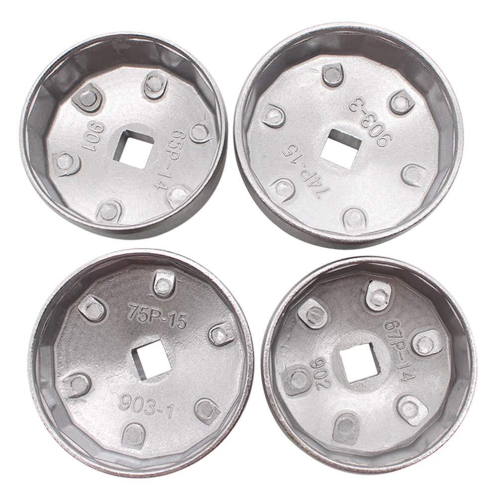 elegantstunning 23pcs/Set Aluminum Alloy Cup Type Oil Filter Cap Wrench Socket Removal Tool by elegantstunning (Image #3)