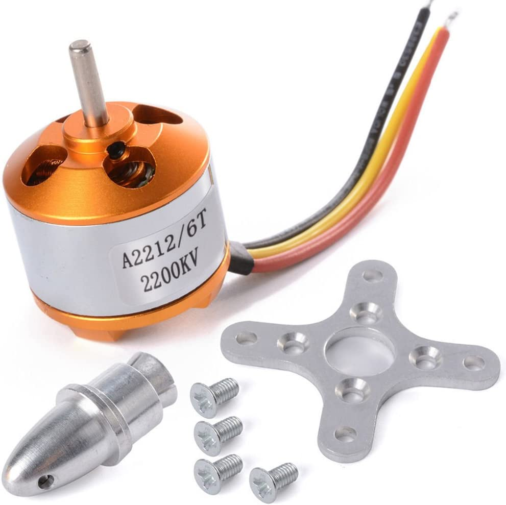 RONSHIN RC 2212//2200KV Brushless Motor for RC Plane Aircraft Helicopter