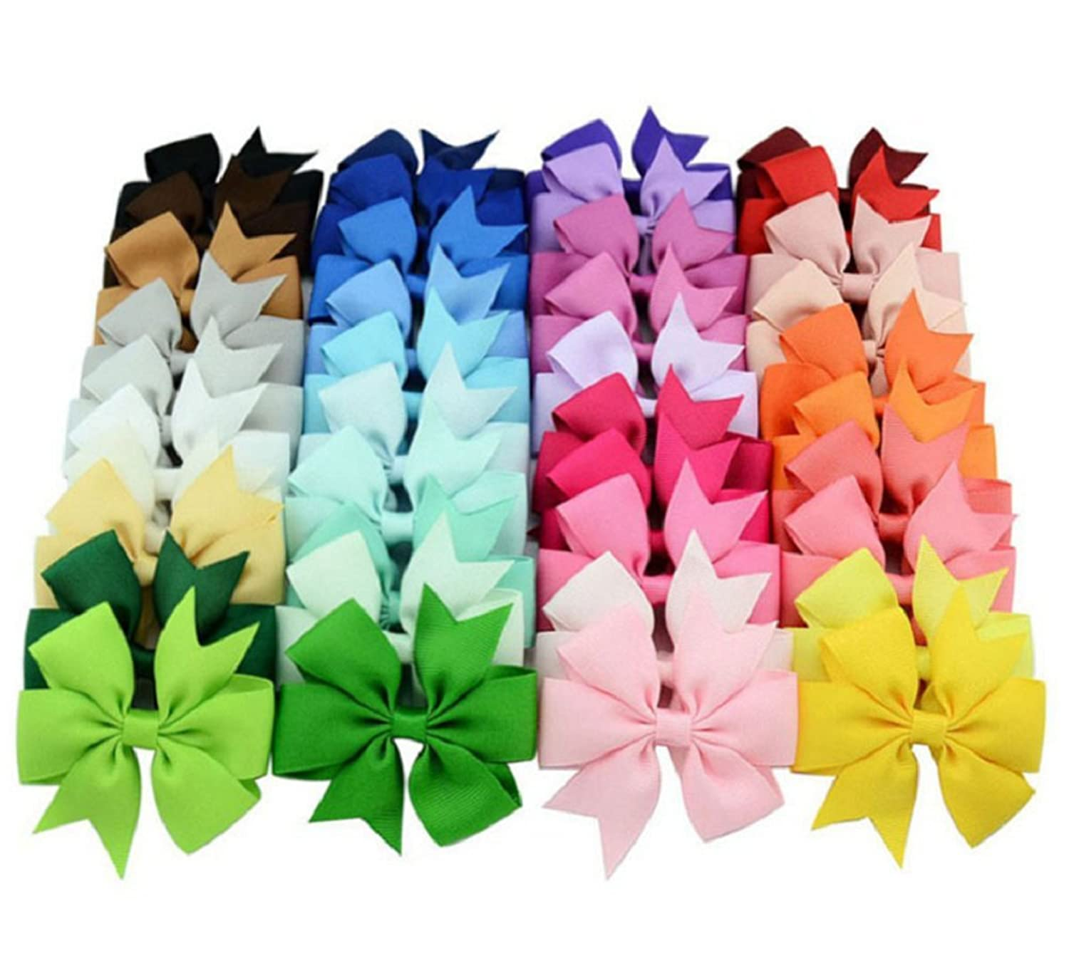 40PCS 3-inch Grosgrain Ribbon.