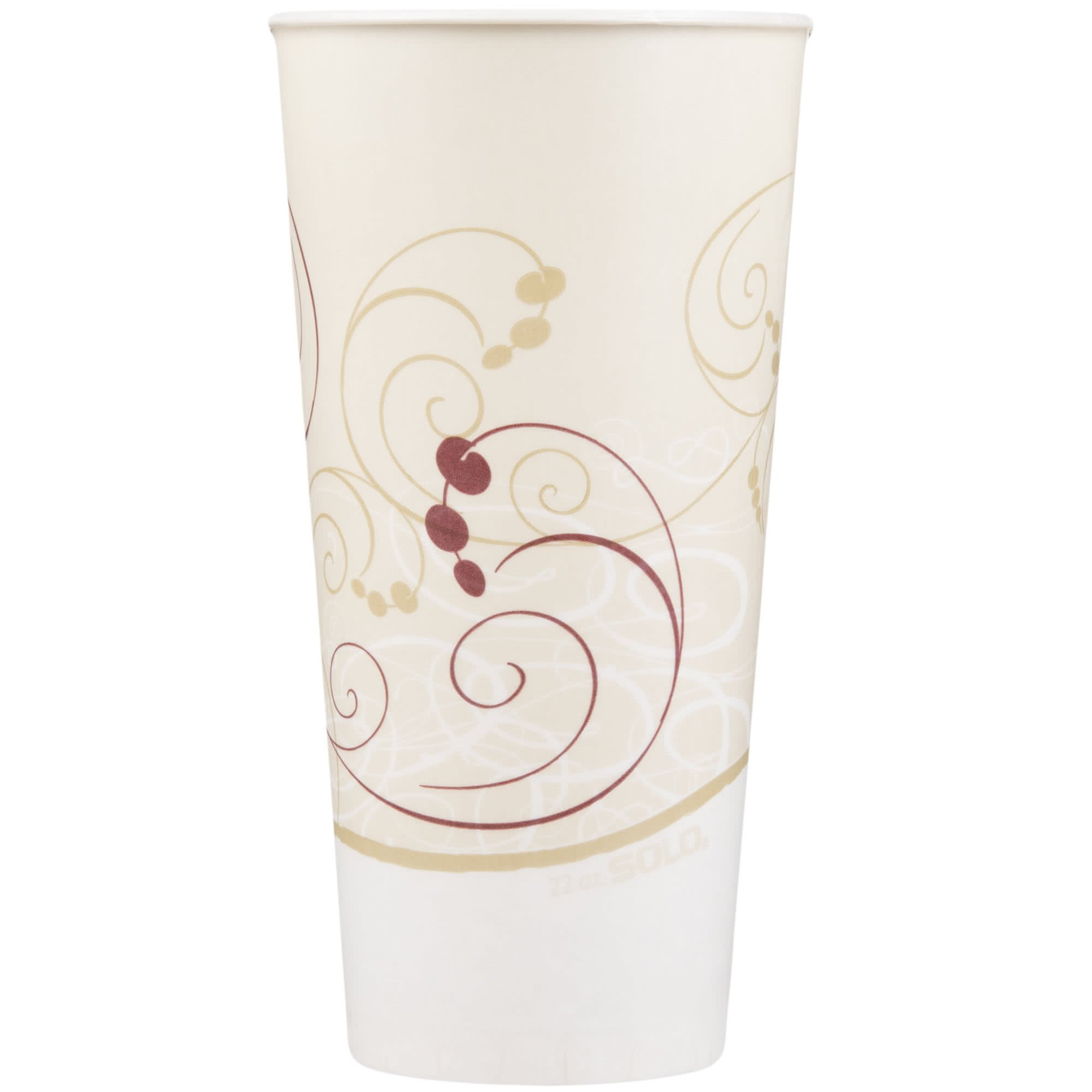 TableTop King RS22N-J8000 Symphony 22 oz. Wax Treated Paper Cold Cup - 1000/Case