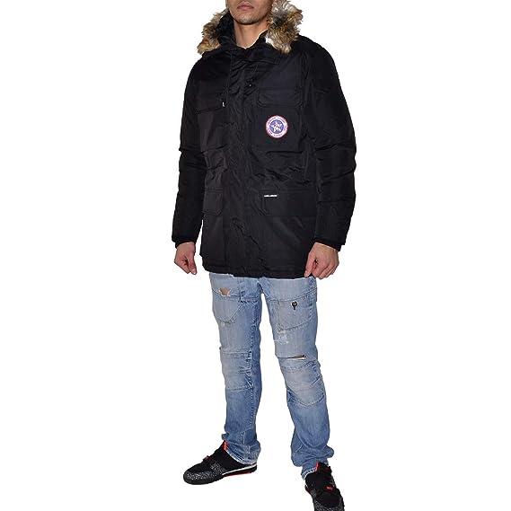 KAMORA - Parka Capuche Fourrure - Homme - Quebec - Noir  Amazon.fr   Vêtements et accessoires 92642c754832