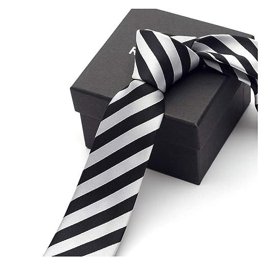 LWBUKK Corbata de Negocios Informal, Corbata de Lazo, Material de ...