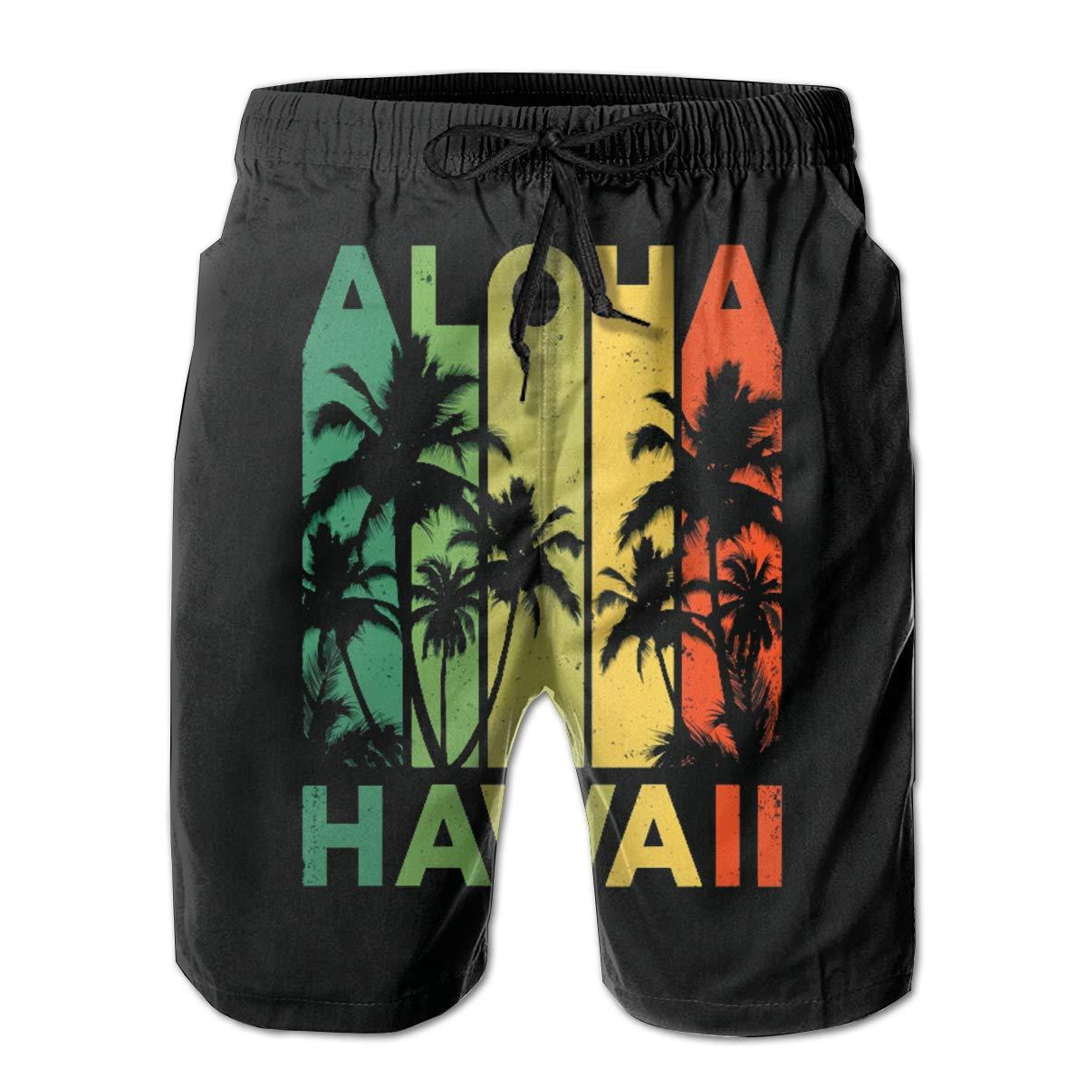 Fashion Mens Vintage Hawaiian Islands Beach Shorts Board Shorts Casual Shorts Swim Trunks