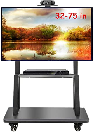 Zaqi Support Tv Meuble Tv Chariots Robustes Pour Televiseurs