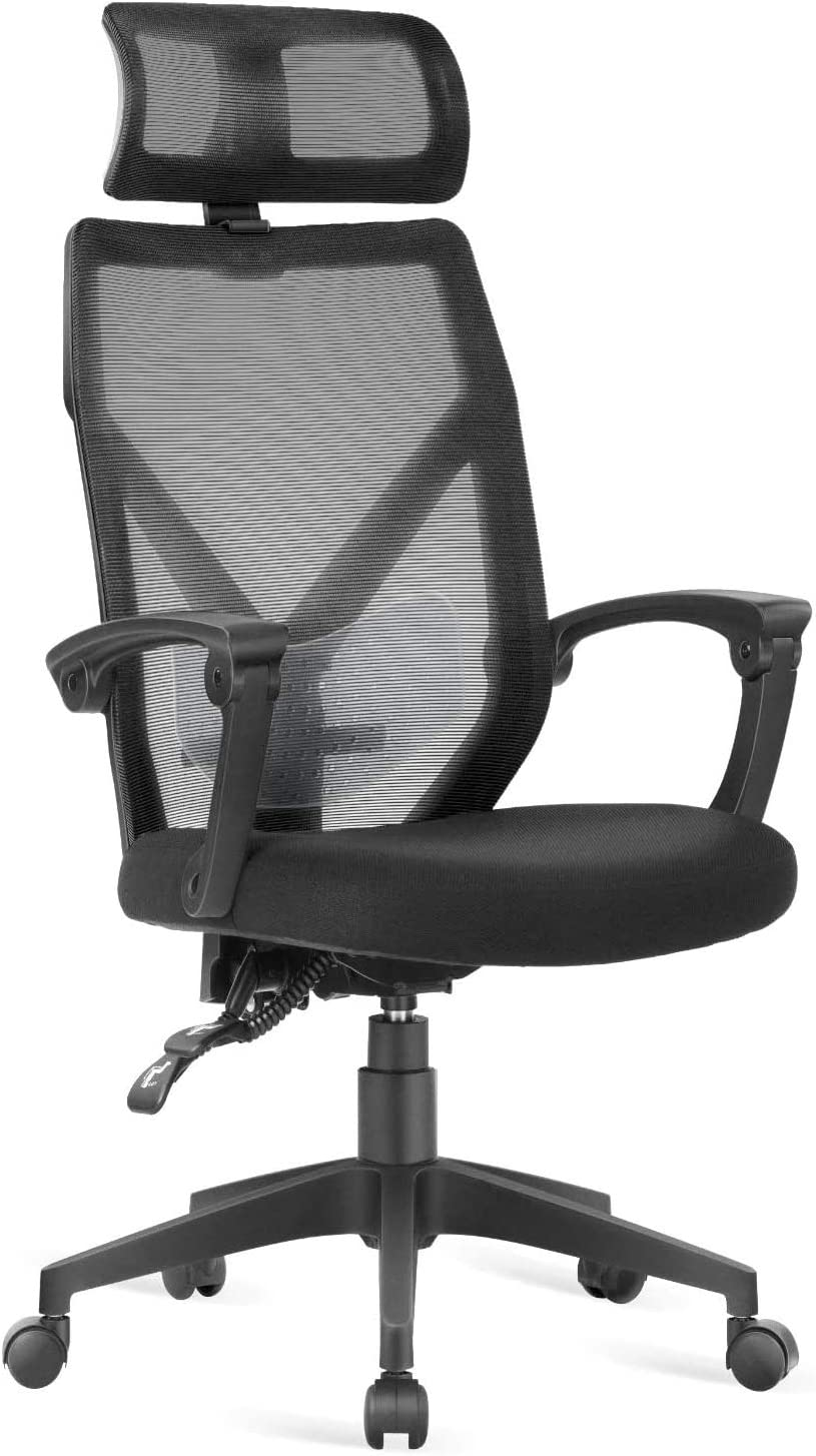 Dripex Ergonomic Office Chair 140 Adjustable Desk Chair Reclining Computer Chair With Headrest And Lumbar Support Black Max Capacity 285lbs Amazon Co Uk Kitchen Home