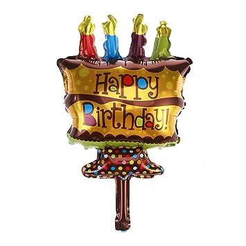 Amazon.com: AMOSFUN - Vela de feliz cumpleaños, diseño de ...
