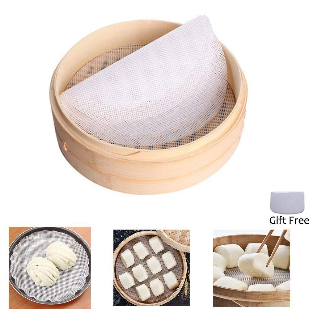 4Pcs 11inch Kitchen Non-Stick Silicone Steamer Mesh Non-stick Pad Dumplings Mat/Round Dumplings Mat-/Silicone Steamer Mesh