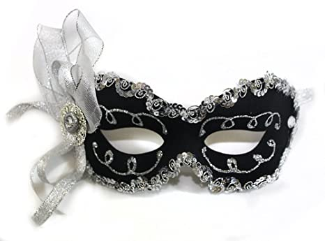 910ce03d3ef1 Image Unavailable. Image not available for. Color: Success Creations  Angelina Black Women's Masquerade Mask