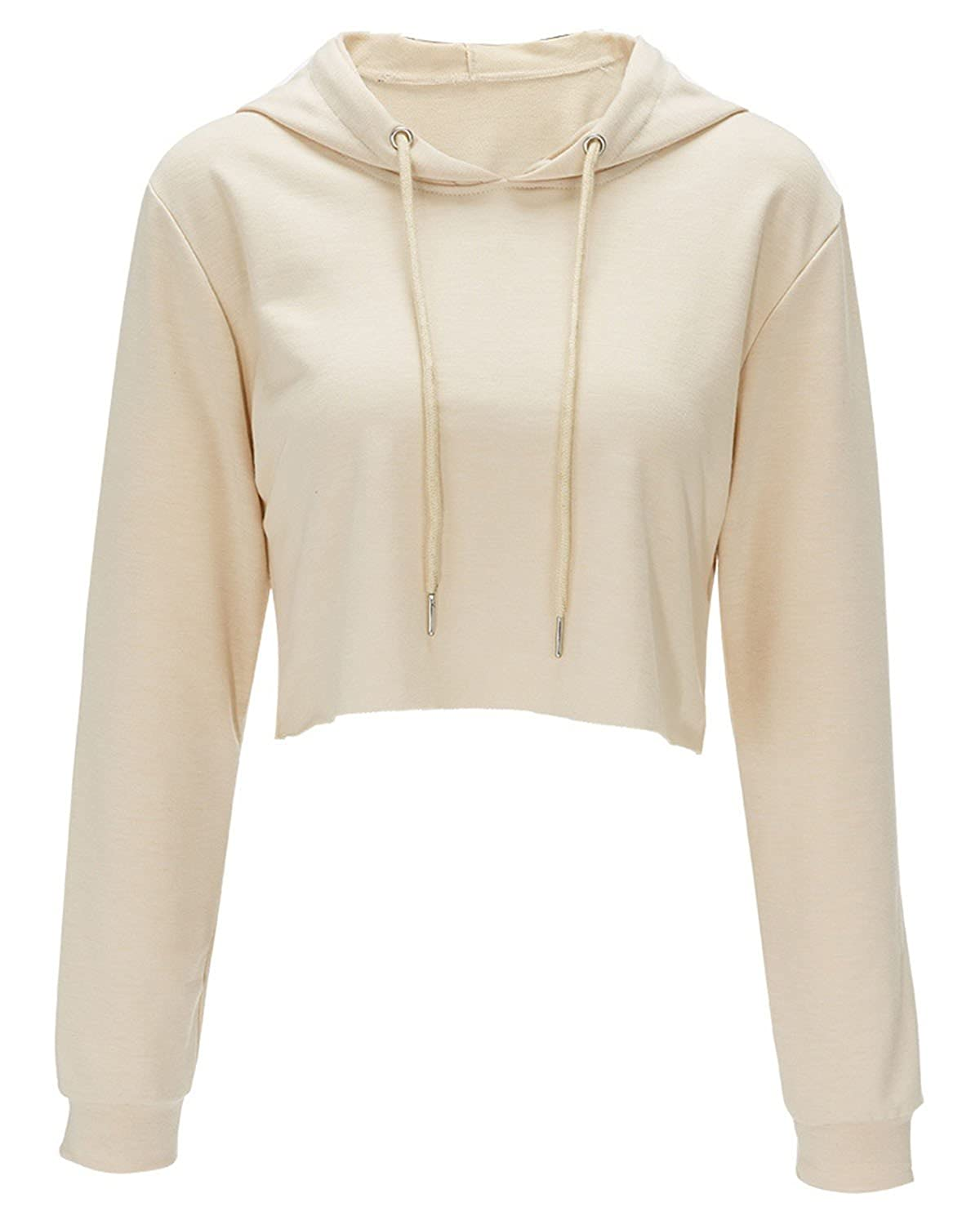 26b3f646c6 Style: O-neck, Long Sleeve, Hollow Hole, Exposed Navel, Sexy and Elgant.  Perfect for any occasion, like shopping, outdoor, party, everyday life,  beach, ...