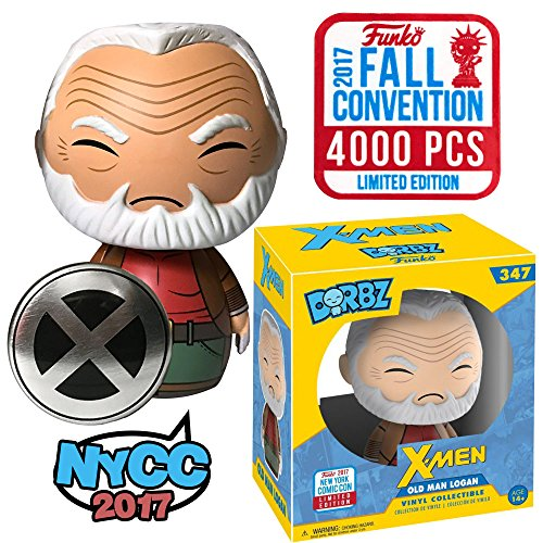 Funko Dorbz Marvel X-Men Old Man Logan (Wolverine) NYCC Fall Convention 2017 Vinyl Figure with Exclusive Pin Button