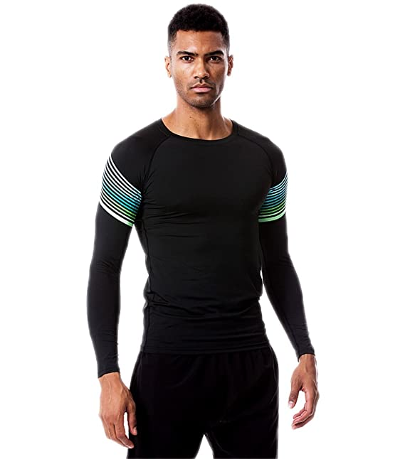 Srizgo Pro Performance Compression Top Mens Base Layer Long Sleeve Lightweight Quick Dry Thermal Top Compression t Shirt