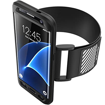 sale retailer a5443 919ce SUPCASE Galaxy S7 Edge Armband, Easy Fitting Sport Running Armband with  Premium Flexible Case Combo for Samsung Galaxy S7 Edge 2016 Release (Black)