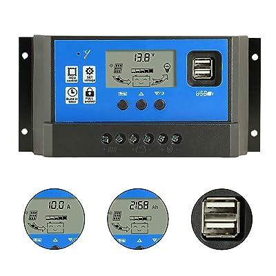 PWM 50A Solar Charge Controller, Intelligent USB Port Display 12V/24V Auto Charge Regulator : Garden & Outdoor [5Bkhe0812974]