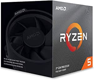 AMD Ryzen 5 3600X 3.8 GHz 6-Core/12 Threads AM4 Processor with Wraith Spire Cooler, 100-100000022BOX