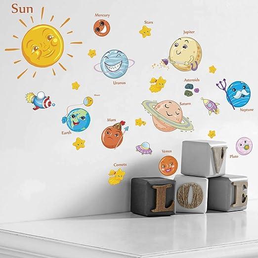 8 x cartoon animals wall art sticker decal kids childrens bedroom