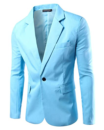 Uomo Slim Fit Uomo Casual One Button Elegante Vestito di Affari Cappotto  Giacca Blazers Top Outwear  Amazon.it  Abbigliamento cc6fae7c67b