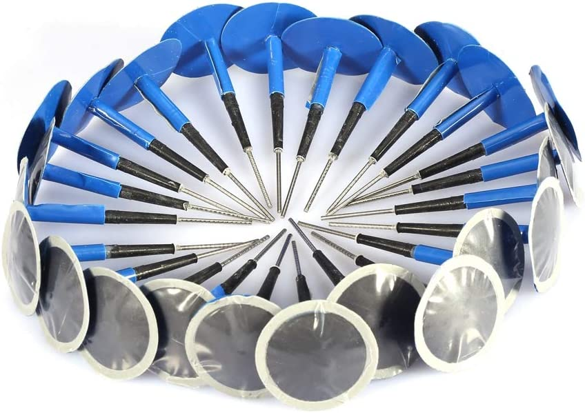 Acouto Tire Repair Plug Patch 24 pcs Universal Car Motorcycle Tubeless Tire Puncture Repair Mushroom Plug Patch Gum 364mm