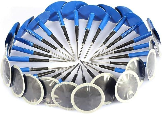Qiilu Reifenpflege Reifenreparatur Pilz Gummi Reparatur Pilz Stecker Pilzförmige Nadelstecker Zur Reparatur Von Reifen Für Auto Motorrad Fahrrad Lkw 24 Stück 36x4mm Auto