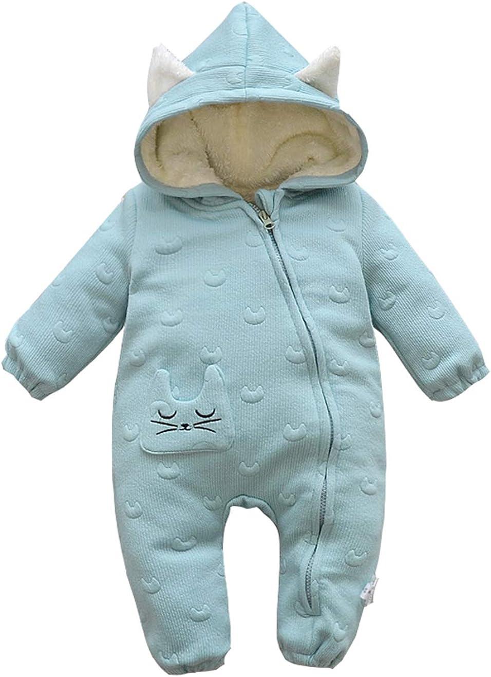 Fairy Baby Newborn Baby Unisex Cute Romper Outwear Winter Thick Snowsuit Fleece Jumpsuit