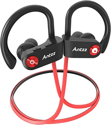 Wireless Headset Microphones Bluetooth Earbuds Antzz Earphones Waterproof Noise Cancelling Headphones for Gym Stereo Bluetooth Earbud 8 Hour Battery in-Ear Headphone for Sports Running