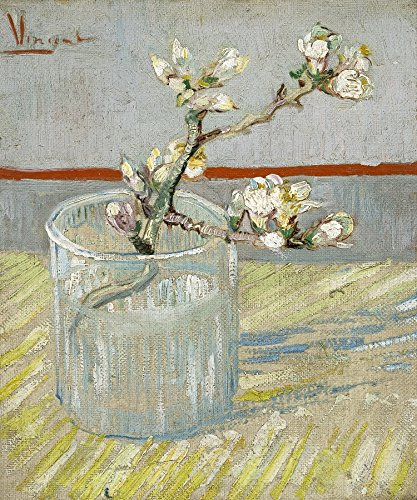 - Wieco Art Spring of Flowering Almond in a Glass Canvas Prints Wall Art by Van Gogh Famous Oil Paintings Reproduction Modern Floral Giclee Artwork Grey Flowers Pictures for Bedroom Home Decorations