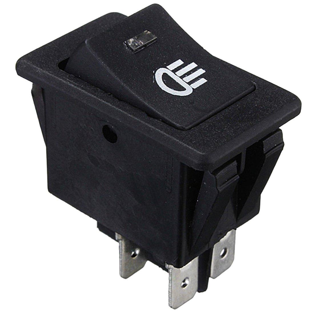 SODIAL(R) 12V Universal Fog Lights Rocker Switch LED Car Lamp - Green LED 069683A4
