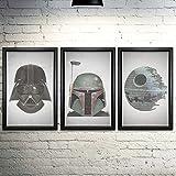"Star Wars Word Art Print Three Set - 11x17"" - Every Line of Dialogue"