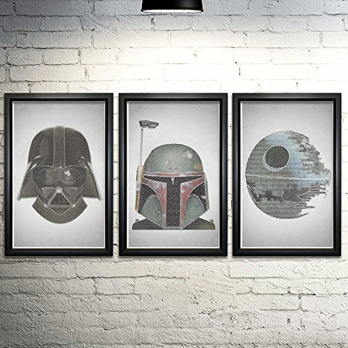 Star Wars Word Art Print Three Set 11x17