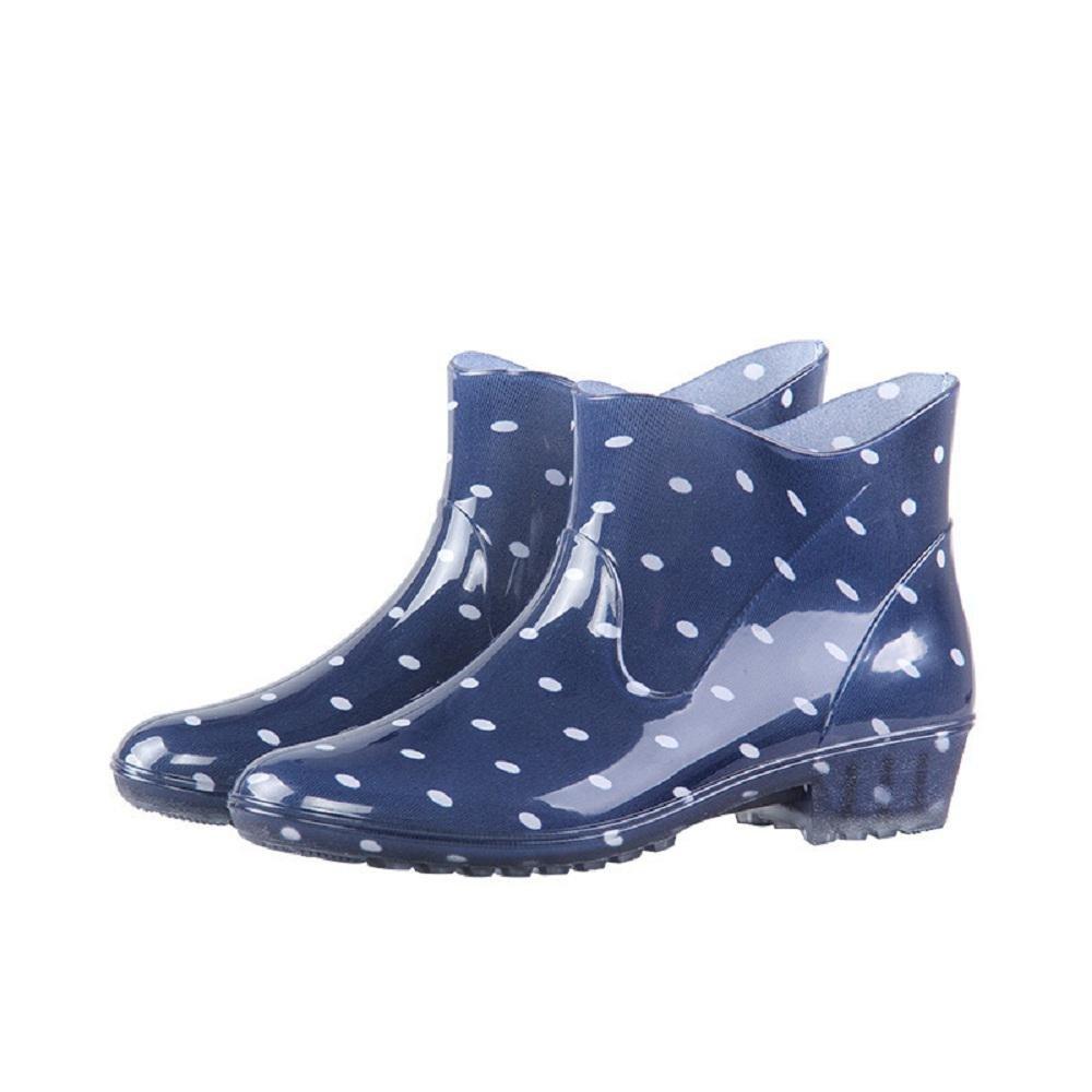 Quattro stagioni Guida di basso Moda Delle donne Pioggia Scarpe , blue , 38 blue