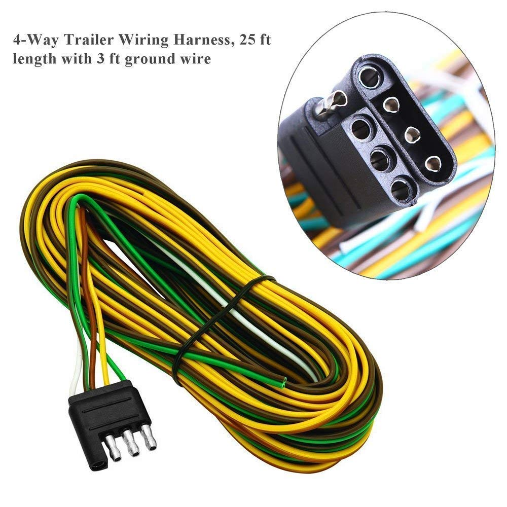 Nisuns Submersible Trailer Tail Lights Kit Waterproof 12v Led Wiring Harness With Combination Brake