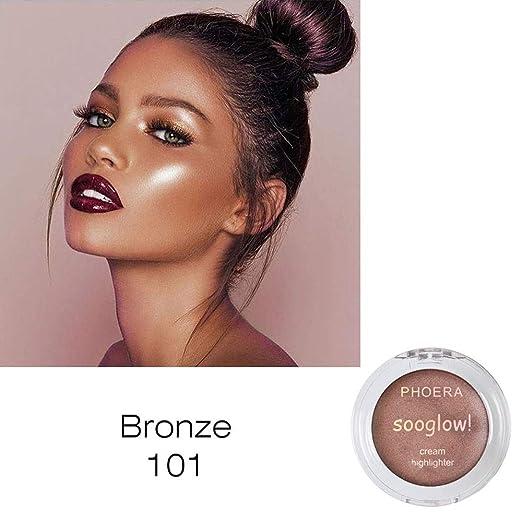 🍒Jonerytime🍒PHOERA Highlighter Make Up Shimmer Cream Face Highlight  Eyeshadow Glow Bronzer (A ad52d084a5f8