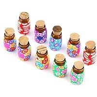 CDKJ: 10 Unidades de Mini Botellas de Arcilla